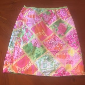 Lilly Pulitzer reversible wrap skirt girls size 14